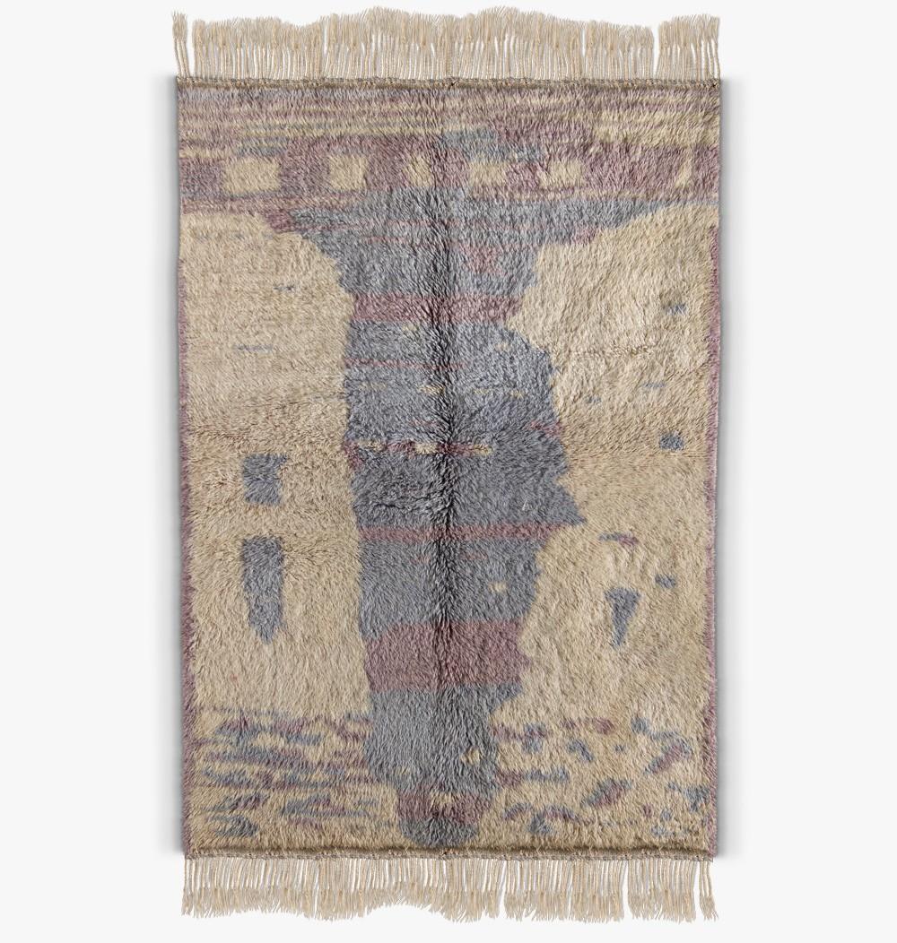 Tapis berbere gris et bleu clair