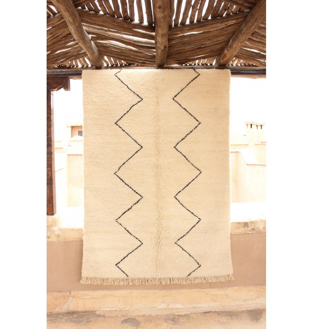 Berber carpet black and white classic