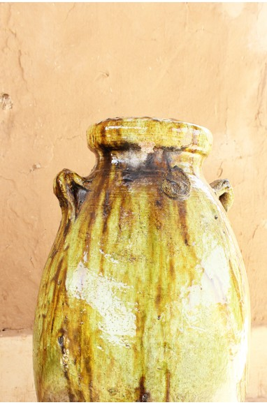 Yellow and Brown ocher jar