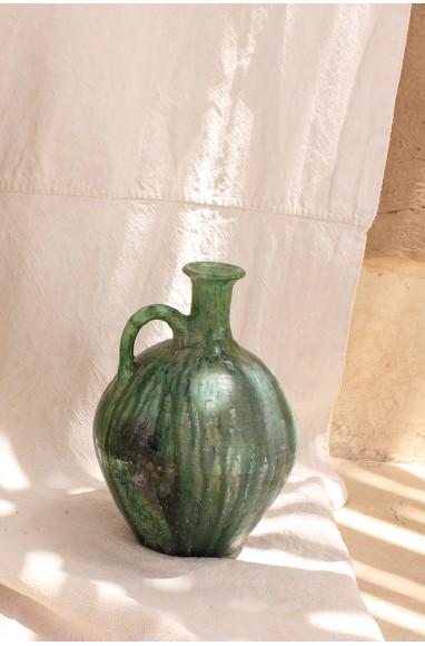 céramique Tamegroute Cruche à eau dans les tons de vert