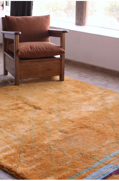 Orange and colored Mrirt berber carpet