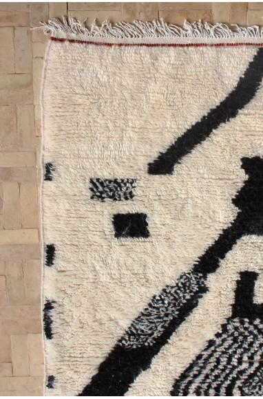 tapis azilal noir et blanc moderne
