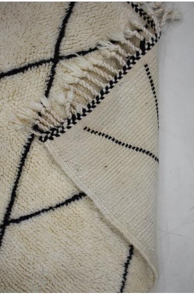 Tapis Mrirt blanc et noir losanges serrés