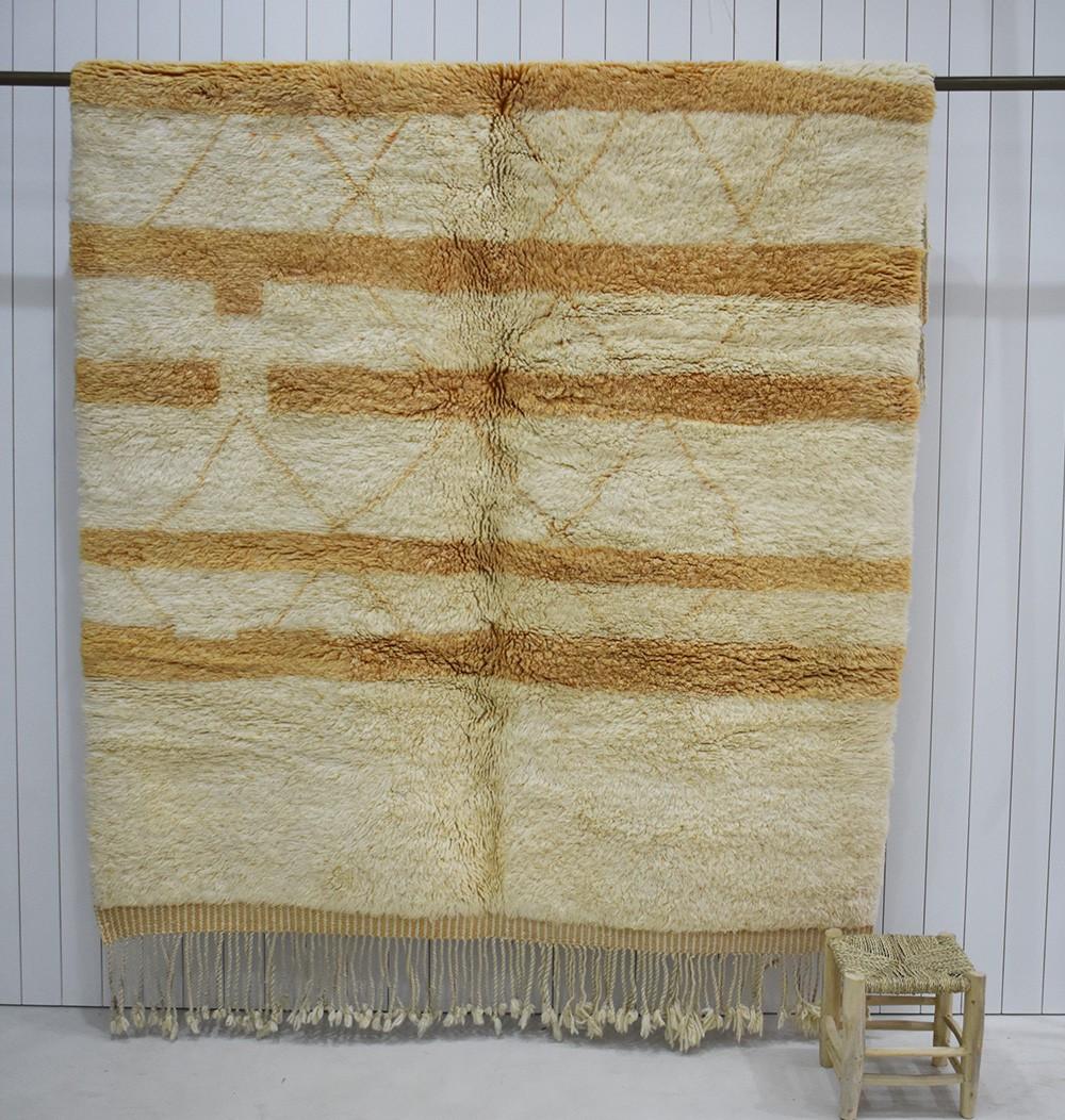 Aurore and white Mrirt carpet