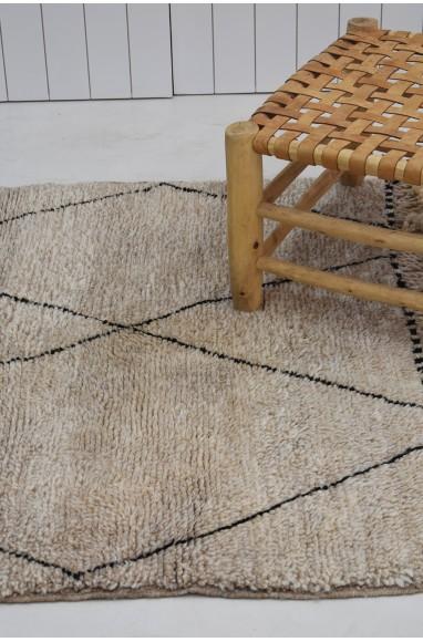 petit tapis berbère gris moucheté