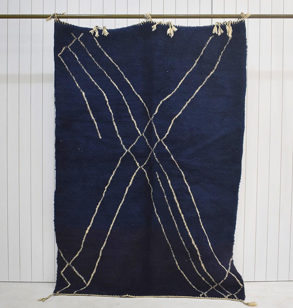 Blue abstract berber Carpet