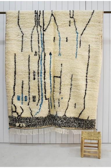 tapis berbere bleu et blanc