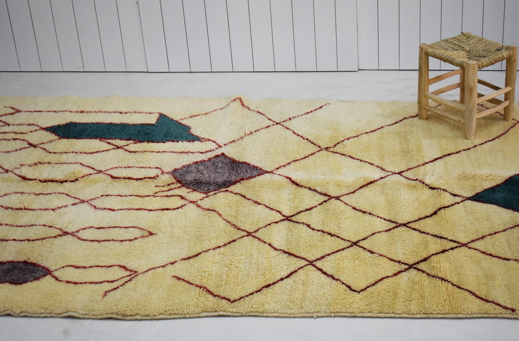 Tapis mrirt beige 150 x 340 cm