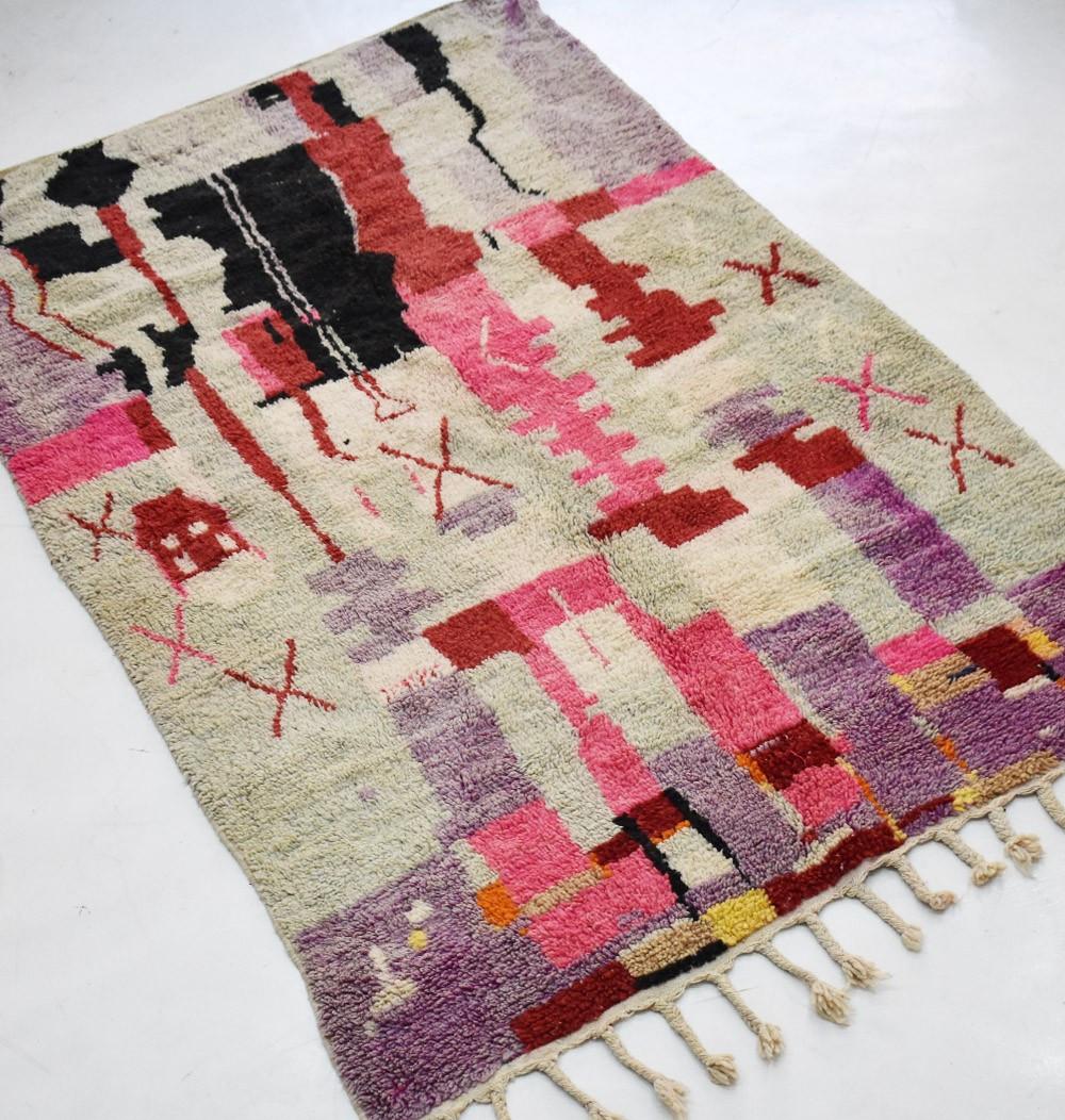 tapis berbere violet et rouge 150x260 cm