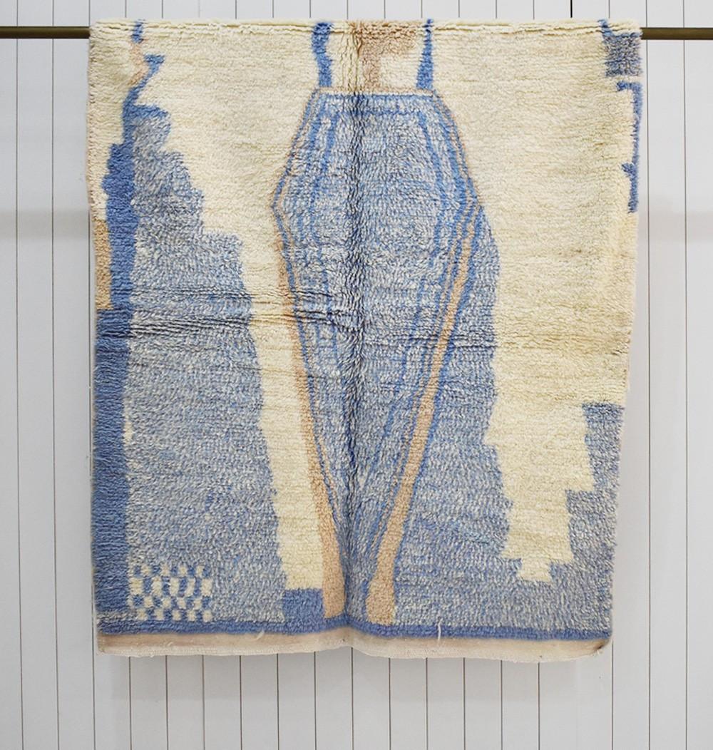 tapis azilal bleu ciel 140x230 cm