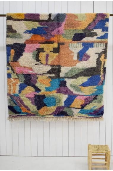 petit tapis berbère multicolore 150 x 230