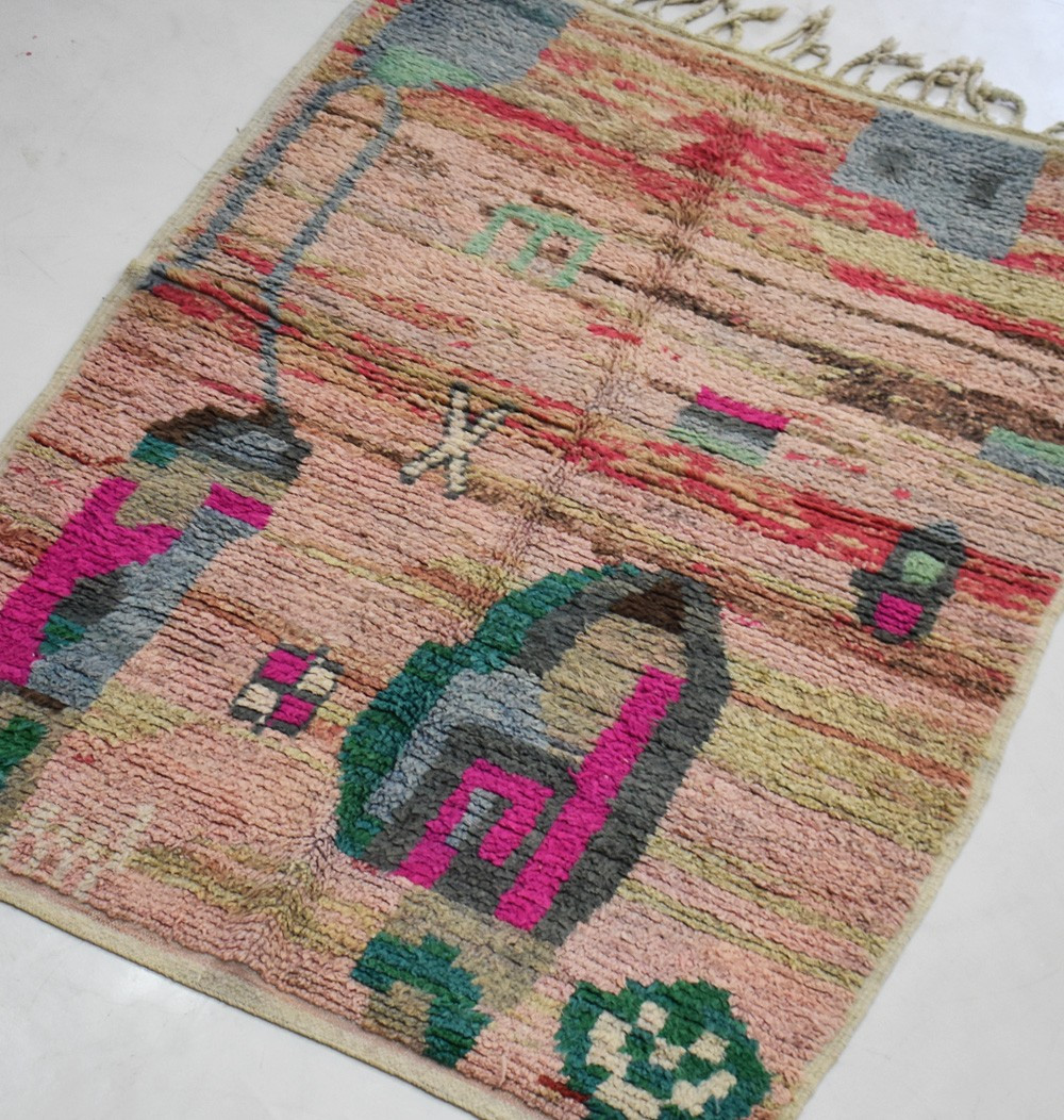 small vintage berber carpet