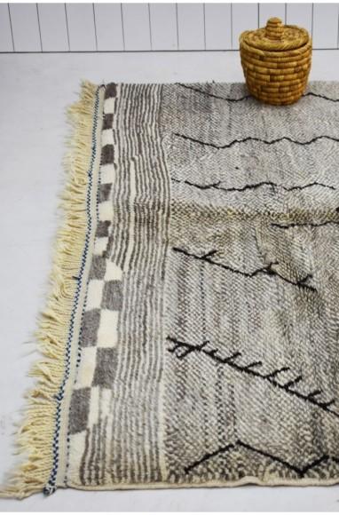 tapis berbère gris 190x250 cm