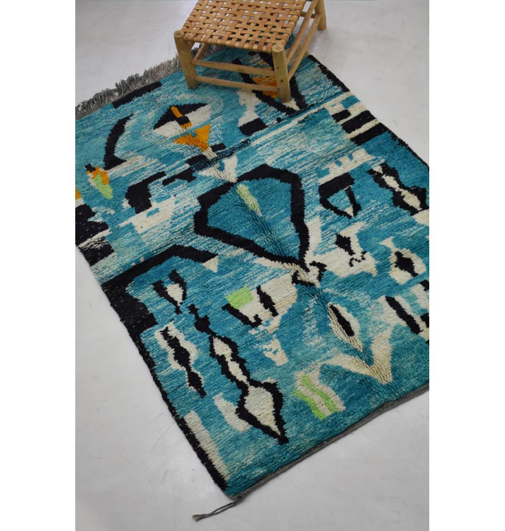 tapis berbère bleu et noir 160 x 235 cm