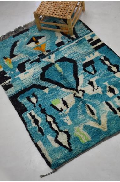 blue and black berber carpet 160 x 235 cm