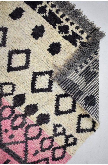 Grand tapis tricolore Beige Rose et Jaune