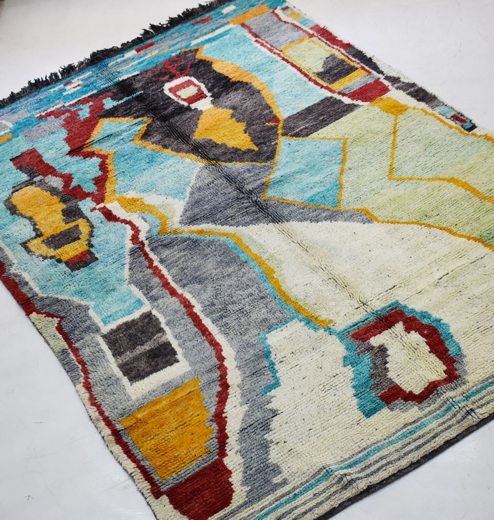 Vintage multicolor rug dominance gray / blue
