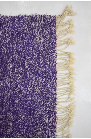 Petit Tapis Violet/écru et touches de gris