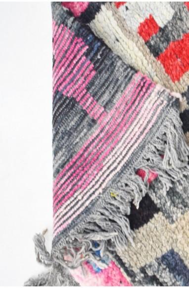 Tapis berbère aux tons Brique, rose, gris et taupe