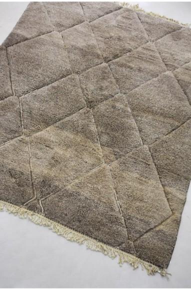 Tapis nuances gris/taupe et motifs incrustés losanges