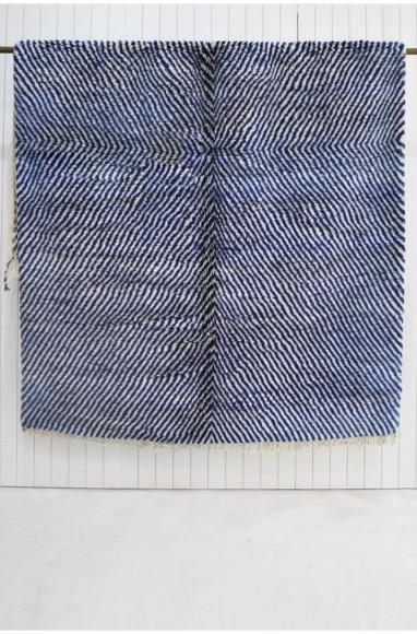 """Tapis aspect zébré gris bleu et noir """"Africa Zèbre"""""""