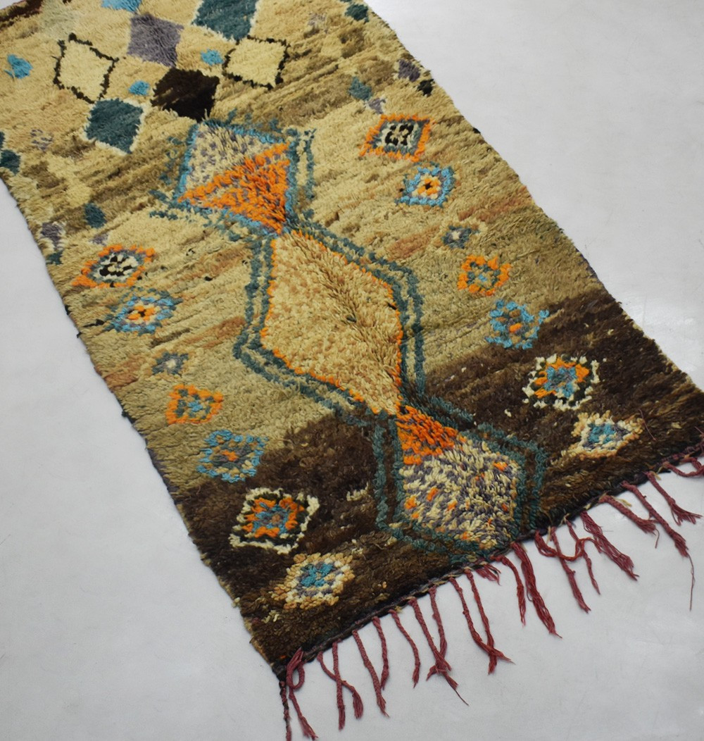Berber hallway rug with rustic looks