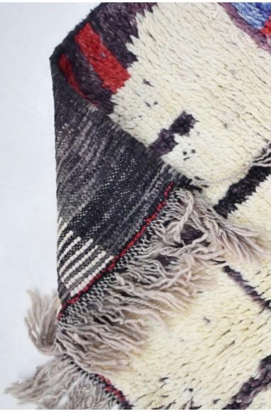 Berber carpet graphic look, beautiful dominant of bluish gray and brick.