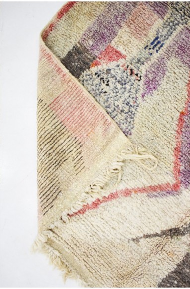 Tapis berbère aspect délavé tons de gris taupe et beige