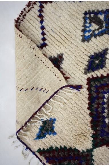 Tapis berbère Azilal touches de vert fluo et bleu