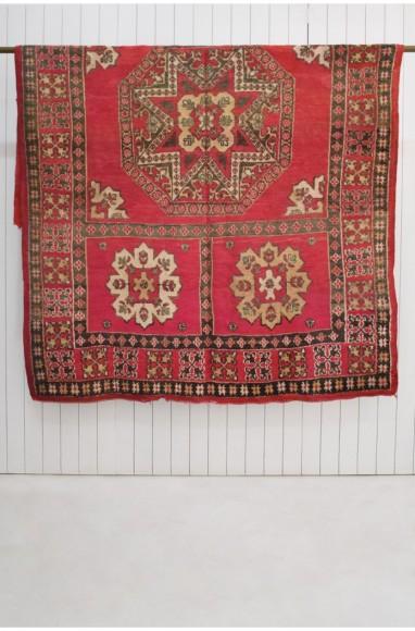 Vintage Berber carpet inlaid patterns