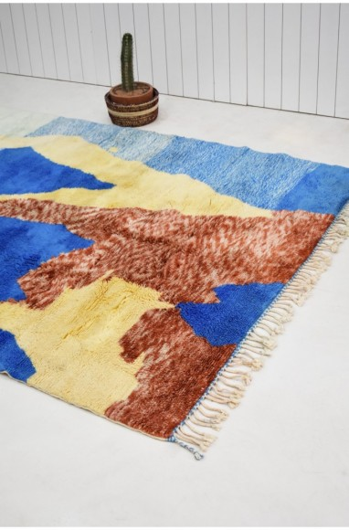 "Small Berber carpet ""The earth seen from the sky"""
