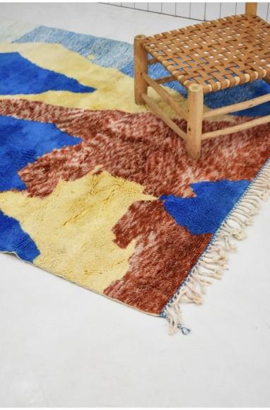 """Petit tapis berbère """"La terre vue du ciel"""""""