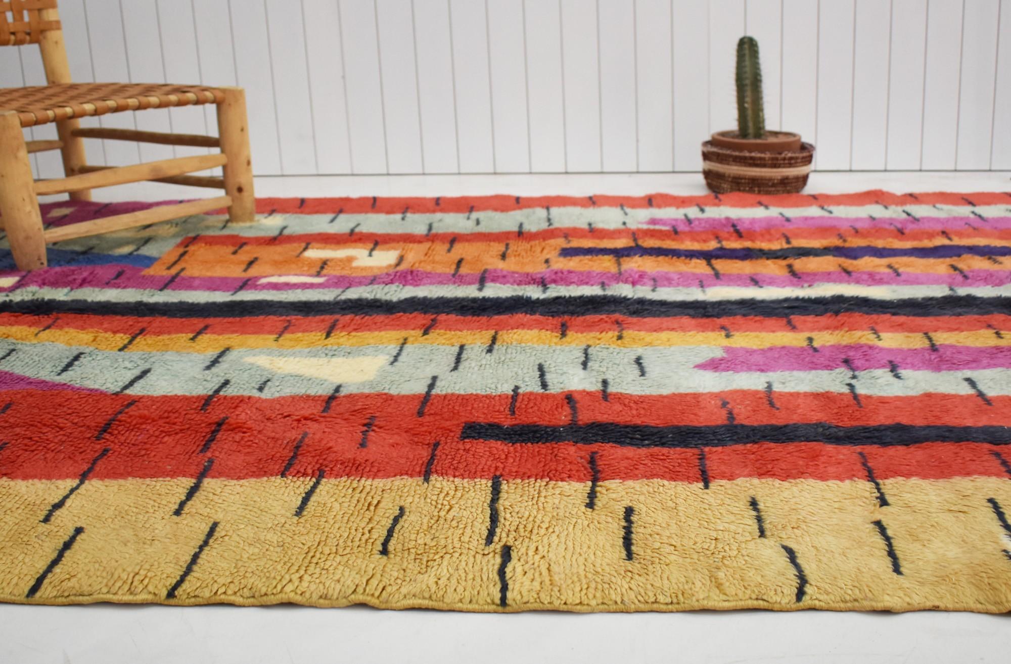 "Berber carpet ""Colorful graphic"""