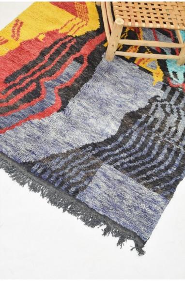 Tapis berbère Azilal multicolore
