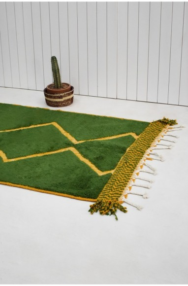 Berber carpet green and orange