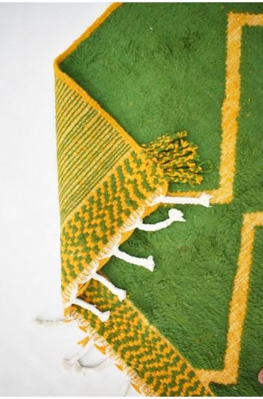 Tapis berbère vert et orange