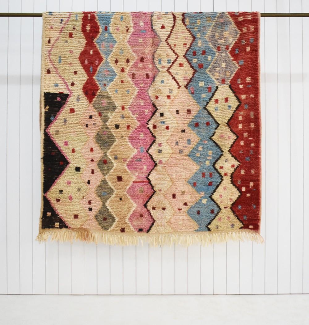 Berber carpet Colorful friezes and confetti