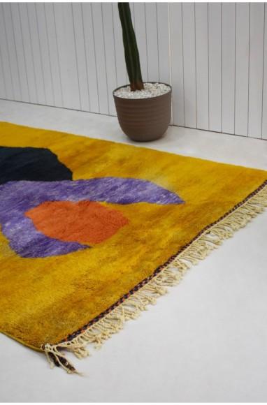 Berber carpet mustard yellow background