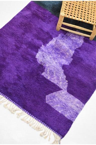 Tapis berbère violet, noir et parme