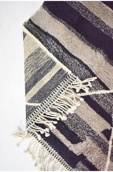 Tapis berbère noir, beige et gris
