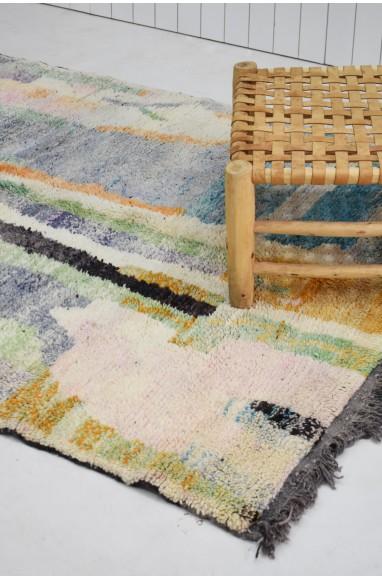 Beau tapis berbère aux tons d'aquarelle