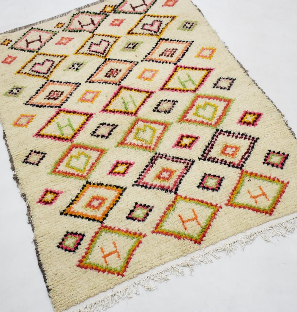 "Berber carpet Azilal ""H and heart"" ..."