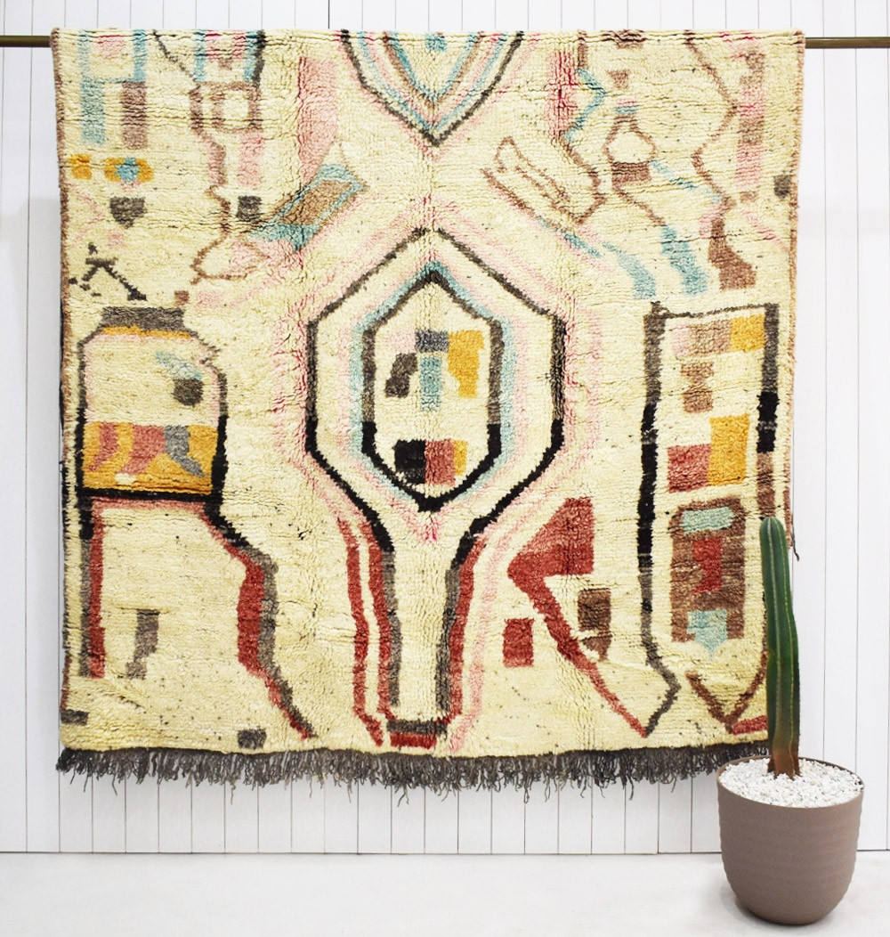 Berber carpet with abstract patterns