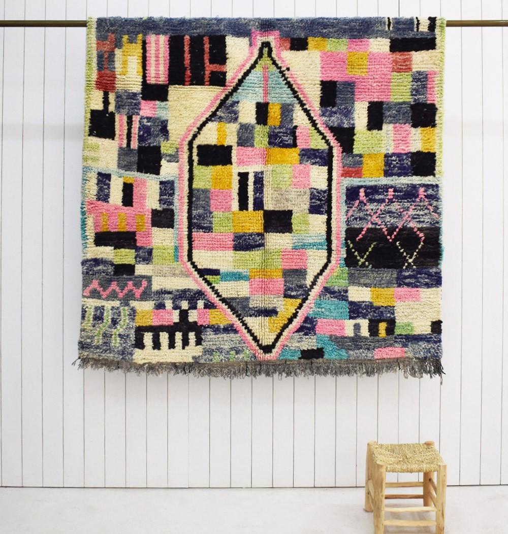 "Berber carpet Azilal ""Arlequin"""
