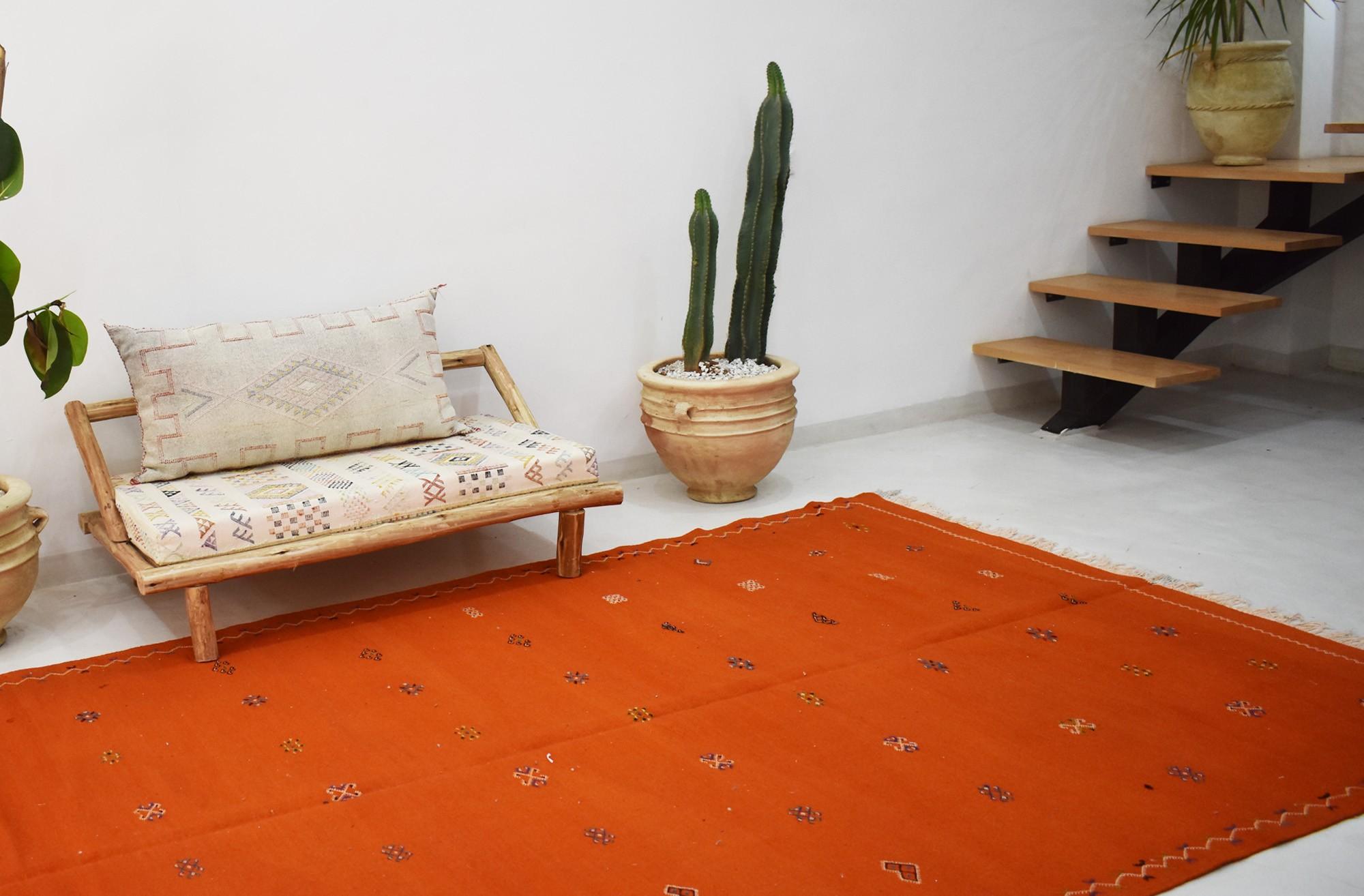 Tapis Hanbel lumineux orange