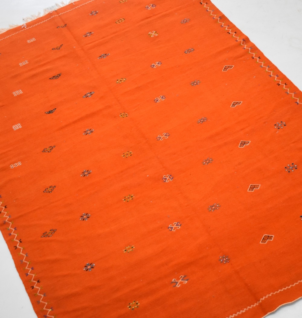 Tapis Hanbel lumineux orange
