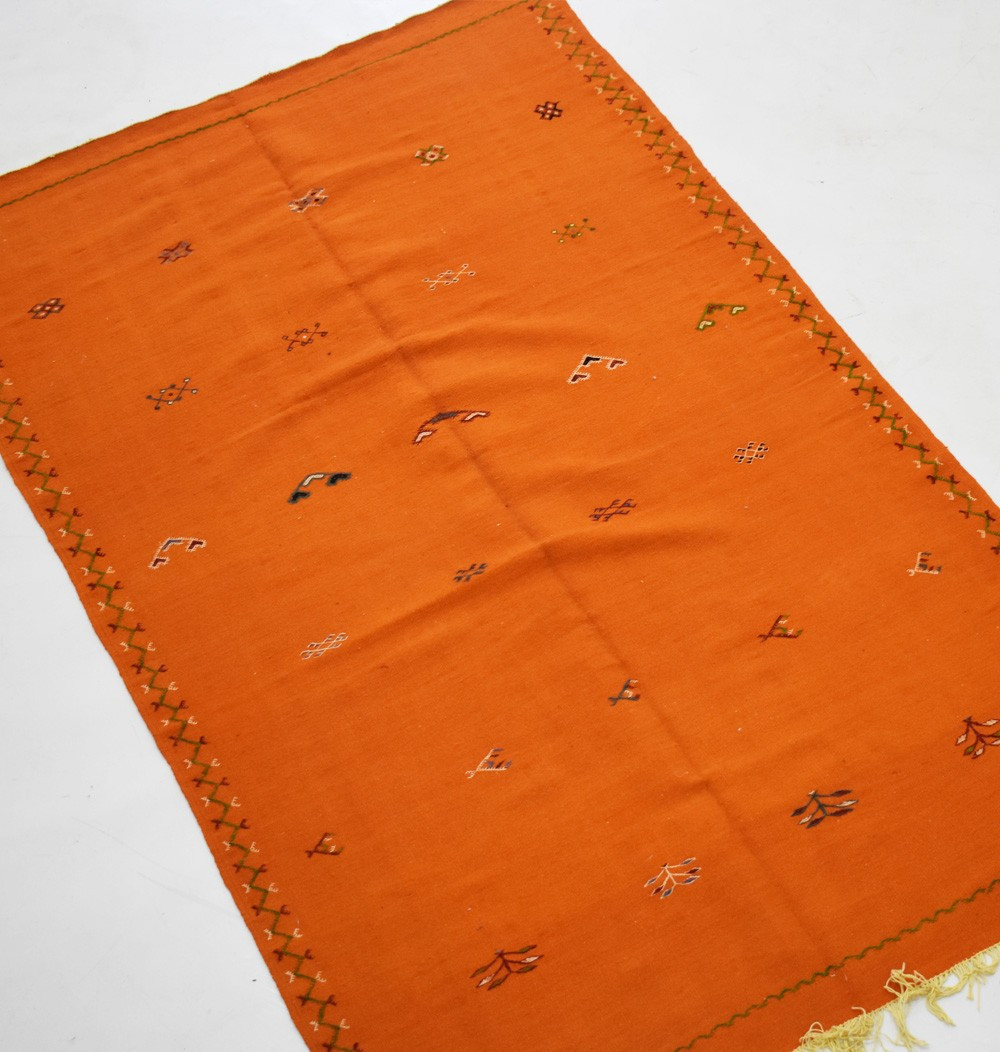 Tapis berbère Hanbel fond orange