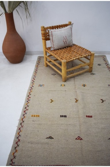 Berber rug Hanbel linen canvas background
