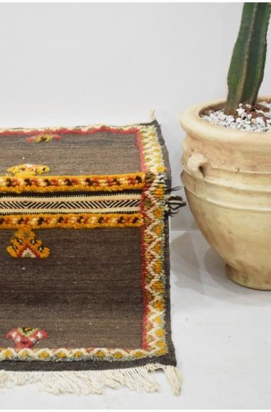 Tapis berbère Glaoua frangé côté