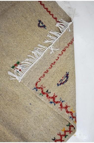 Tapis berbère Hanbel fond toile de lin